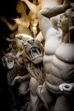 Pågående Durga Puja Idol arbete Arkivfoton