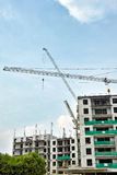 Pågående lägenhetkonstruktion Royaltyfri Fotografi