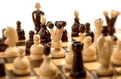 Pågående schackmatch Arkivbilder
