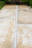 Pålagd sten för konkret golv Fotografering för Bildbyråer