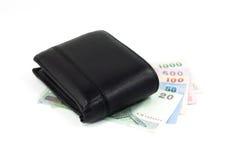 Pålagd thailändsk sedel för plånbok Royaltyfri Fotografi