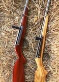 Pålagt sugrör för två luftpistoler i cowboyfestival, Thailand Royaltyfri Foto