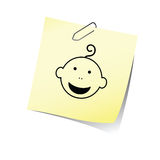 Påminnelsen med behandla som ett barn den head leendevektorn Arkivbild