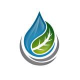 Pånyttfödd symbol för blått vatten royaltyfria bilder