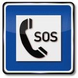 Påringning för hjälp och SOS royaltyfri illustrationer
