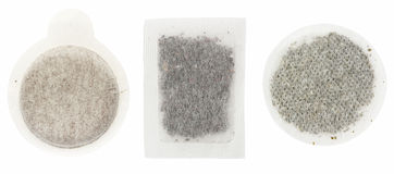 påsar över paper teawhite Royaltyfri Fotografi
