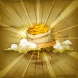 Påsar av pengar, vektorbakgrund royaltyfri illustrationer