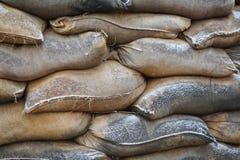 Påsar av sand på barrikader Fotografering för Bildbyråer