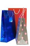 påsar isolerad shopping Royaltyfria Bilder