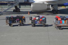 Påsar på en flygplats Royaltyfria Foton