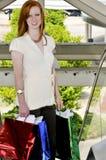 påsar som shoppar kvinnan Arkivbild
