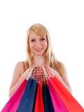 påsar som shoppar kvinnan arkivfoton