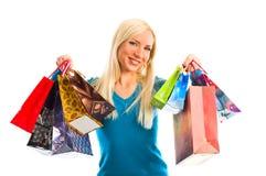 påsar som shoppar kvinnor Fotografering för Bildbyråer