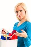 påsar som shoppar kvinnor Arkivbilder