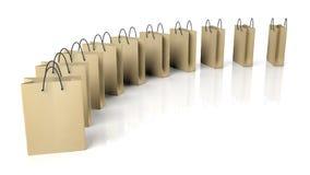 påsar som shoppar white Fotografering för Bildbyråer