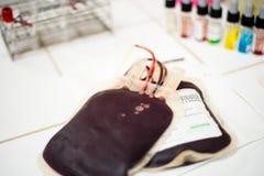 Påse av blod Royaltyfri Foto