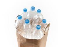 Påse av flaskor Fotografering för Bildbyråer