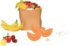 Påse av frukt Royaltyfria Bilder