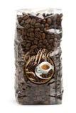 påse av kaffebönor Arkivfoto