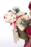 Påse med leksaker Santa Claus Arkivbilder