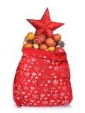 påsejulclaus röda santa toys Arkivfoto