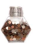 påsen coins jarpengarett pund sterling Arkivfoto