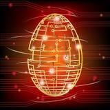 Circuit stiger ombord det röda ägget royaltyfri illustrationer