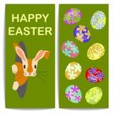 Påskägg och kanin stock illustrationer