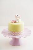 Påsk Bunny Cake Arkivfoton
