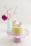 Påsk Bunny Cake Arkivbild