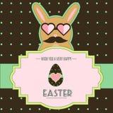 Påsk Bunny Card royaltyfri illustrationer
