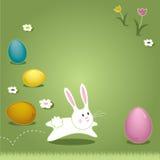 Påsk Bunny Hopping Through Grass Arkivbild