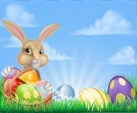 Påsk Bunny Scene Arkivfoton