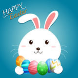 Påsk Bunny Vector Royaltyfri Bild