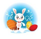 Påsk Bunny Vector Cartoon Royaltyfria Bilder