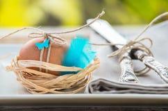 Påsk dekorerat ägg Arkivfoto