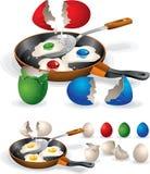 Påsk Fried Eggs Royaltyfri Fotografi