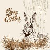 Påsk hare-1 stock illustrationer