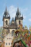 Påsk i Prague, Tjeckien Arkivfoto