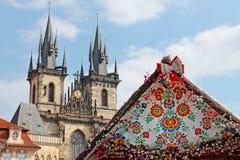 Påsk i Prague, Tjeckien Fotografering för Bildbyråer