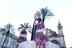 Påsk i Sicilien, heliga fredag - vår dam i procession - Italien Royaltyfri Bild