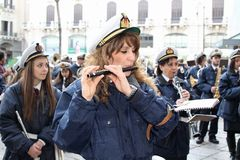 Påsk i Sicilien, heliga fredag - vår dam i procession - Italien Royaltyfria Bilder