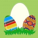 Påsk målade ägg Arkivfoton
