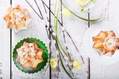 Påsk muffin Royaltyfri Bild