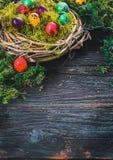 Påsk på trä Arkivfoto