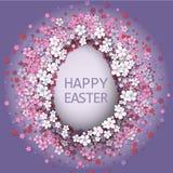 Påskbakgrund med ägg- och vårblomman Royaltyfria Foton