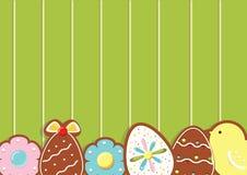 Påskbakgrund med kakor på det gröna träskrivbordet Top beskådar också vektor för coreldrawillustration vektor illustrationer