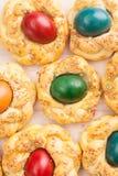 Påskbröd med ägg Royaltyfria Foton