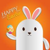 Påskdag Bunny Vector Fotografering för Bildbyråer