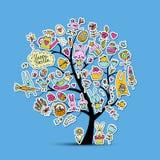 Påskferieträdet, skissar för din design vektor illustrationer